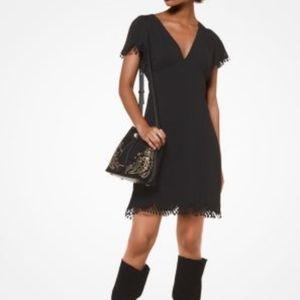 Michael Kors scallop trim dress black XS